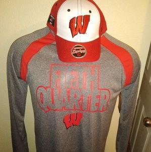 Wisconsin Badgers Long Sleeve Shirt & Hat NWT